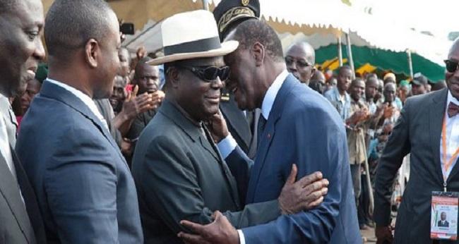 le président Dramane Ouattara et le président Bédié, deux grands leaders