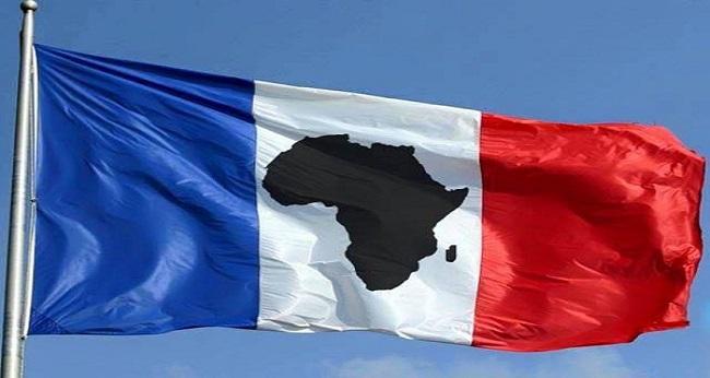 l'afrique francophone, drapeau france-afrique
