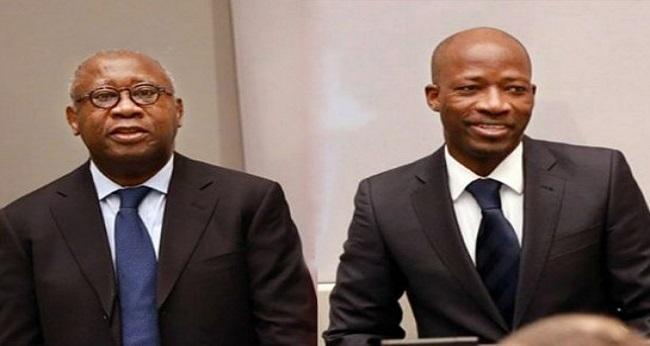 président Gbagbo Laurent et Blé Goudé, devant la cour