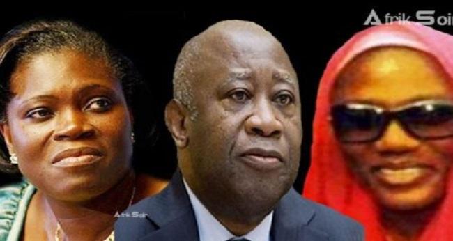 le président gbagbo laurent et ses épouses