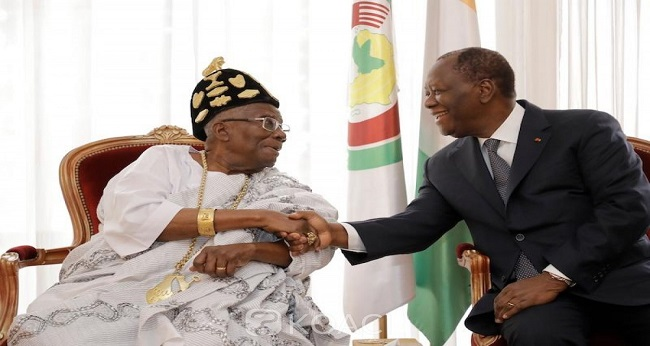 Le président Ouattara chez les akan